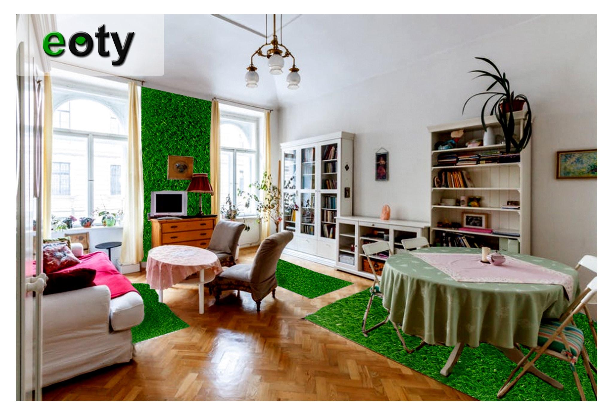 Thiết kế tường xanh độc đáo giúp phòng khách đẹp đến không ngờ