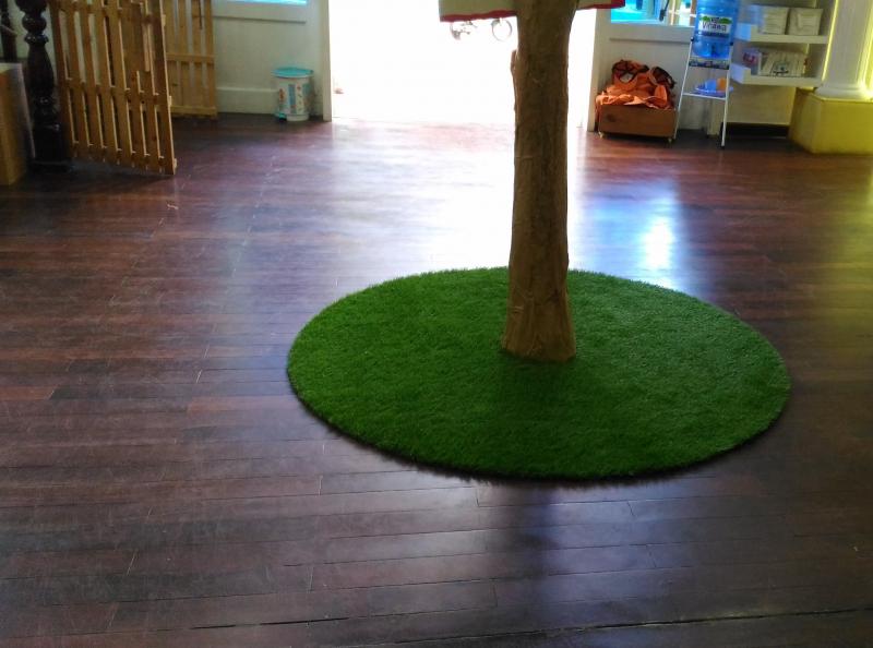 Thiết kế sân trường mầm non của cỏ nhân tạo