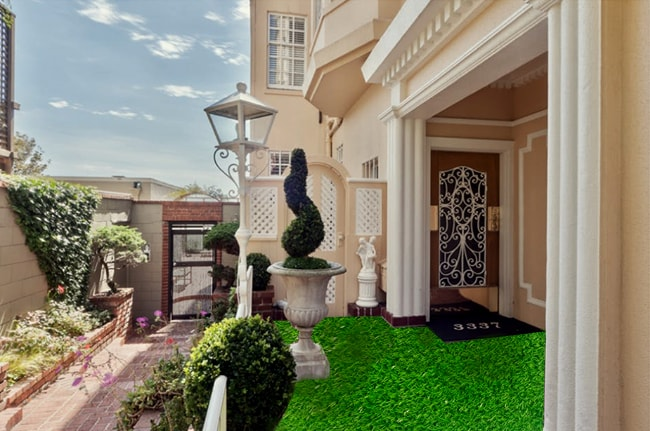 cỏ nhân tạo trang trí sân vườn đẹp