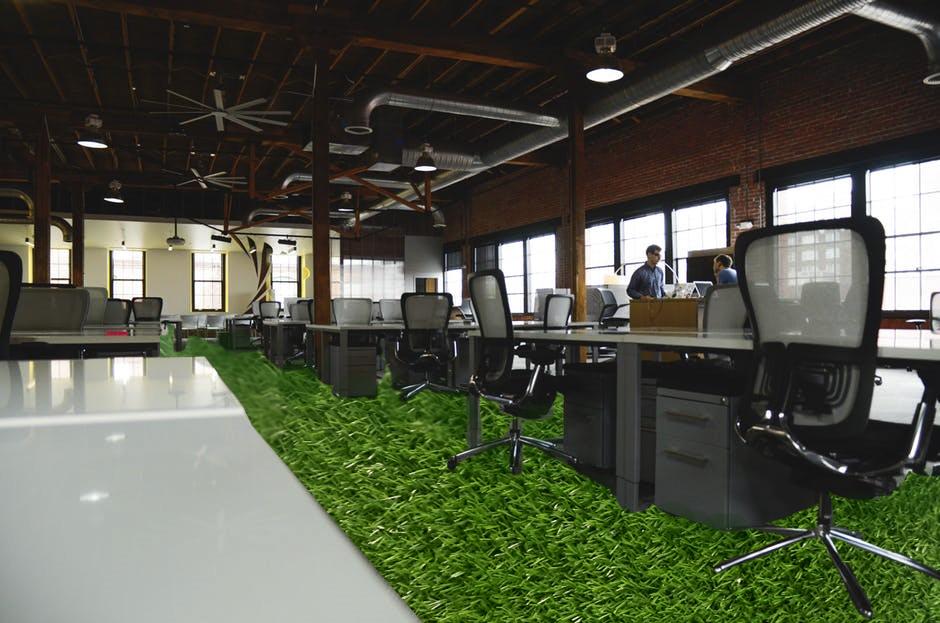 cỏ nhân tạo văn phòng