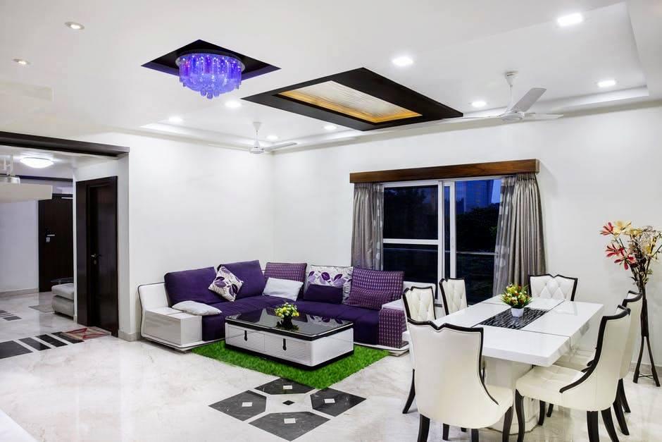thảm cỏ nhân tạo trải sàn phòng khách
